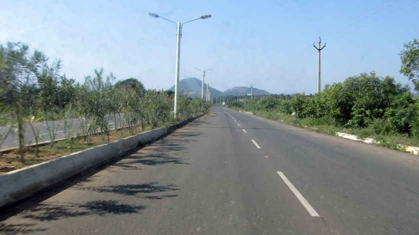 Road to Bheemli Beach