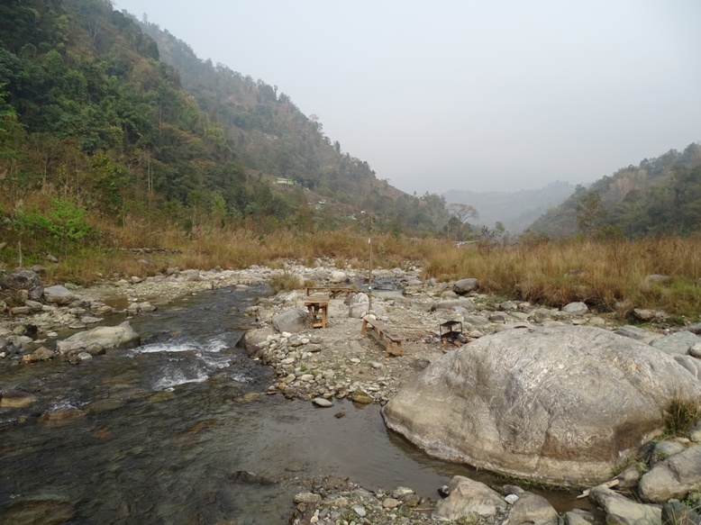 River Reshi flowing through jungle