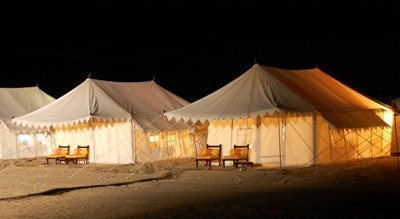 Camp in the Scorched Thar Desert